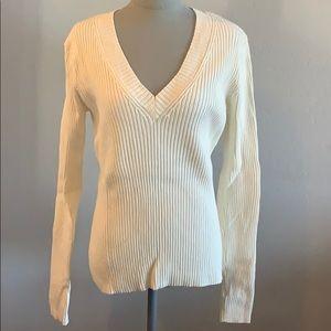 GAP V Neck Ribbed Sweater